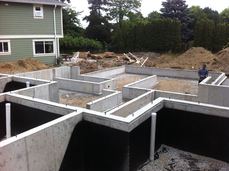 pour concrete foundation victoria cowichan valley gulf islands