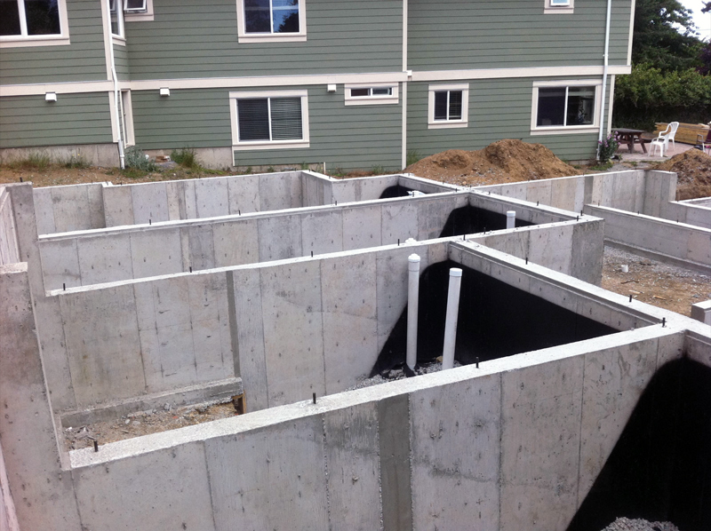 concrete foundation construction victoria cowichan valley gulf islands