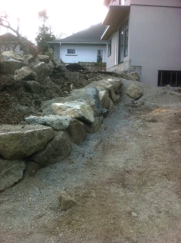 rock wall construction victoria cowichan valley gulf islands