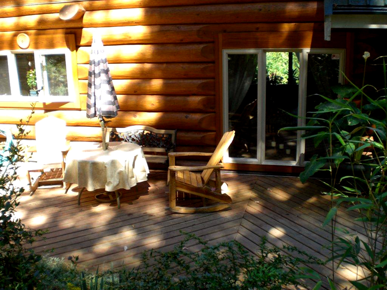 custom wooden deck and chairs victoria cowichan valley