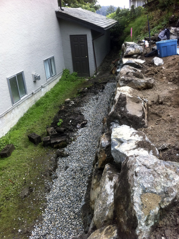 yard drainage victoria cowichan valley gulf islands