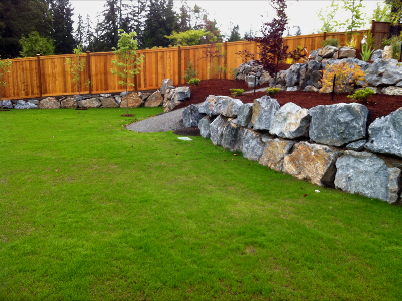 All out contracting retaining walls and driveways victoria for Landscaping rocks victoria bc
