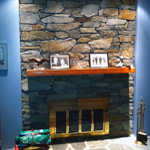 stone fireplace construction victoria cowichan valley