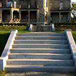masonry stone staircase construction salt spring island