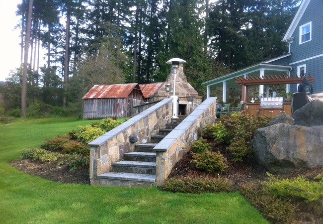 stone staircase construction victoria cowichan valley gulf islands