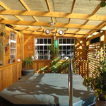 wooden patio and gazeebo victoria cowichan valley gulf islands